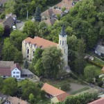 Gyönk - Légifelvétel - Evangélikus templom